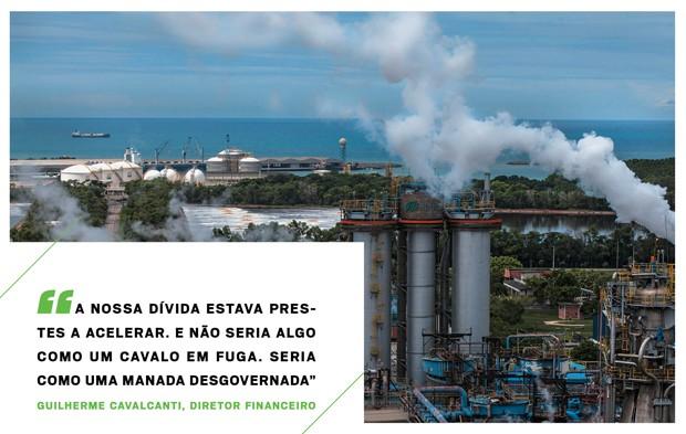 Vista para o mar: proximidade entre a fábrica e o porto é chave para a  operação (Foto: Fabiano Accorsi)