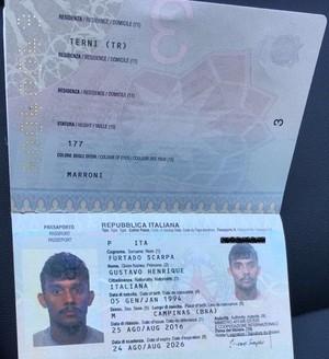 gustavo scarpa passaporte italiano fluminense (Foto: Reprodução)