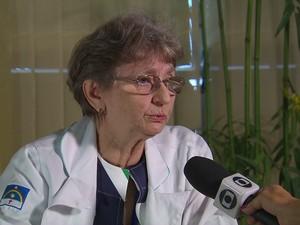 Maria Lúcia Brito Ferreira, chefe do serviço de neurologia do HR (Foto: Reprodução/TV Globo)