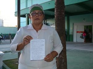 Enfermeira Sandra Alcântara diz que estado de pacientes é prejudicado' (Foto: John Pacheco/G1)