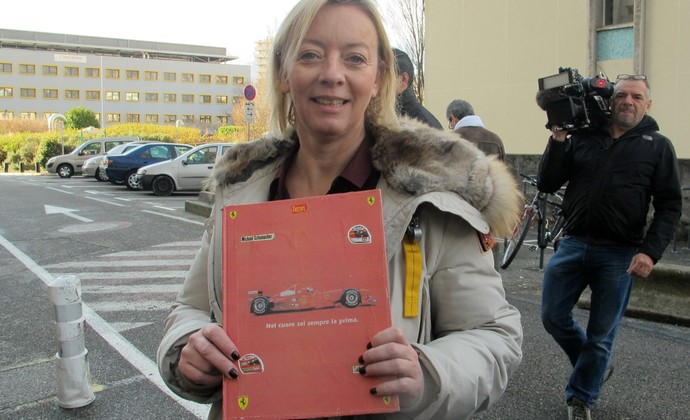 Sabine Khem livro Schumacher (Foto: Felipe Siqueira)