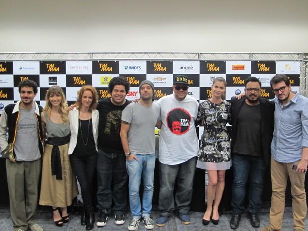 Elenco e equipe de 'Tim Maia' lançam filme durante entrevista coletiva em São Paulo (Foto: Cauê Muraro/G1)