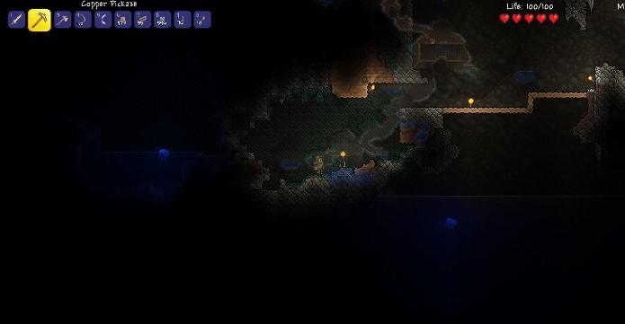 A falta de um tutorial no início atrapalha um pouco o desenvolvimento inicial no game (Foto: Reprodução / João Moura)