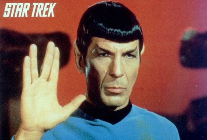 Leonard Nimoy como Dr. Spock em 'Jornada das Estrelas'