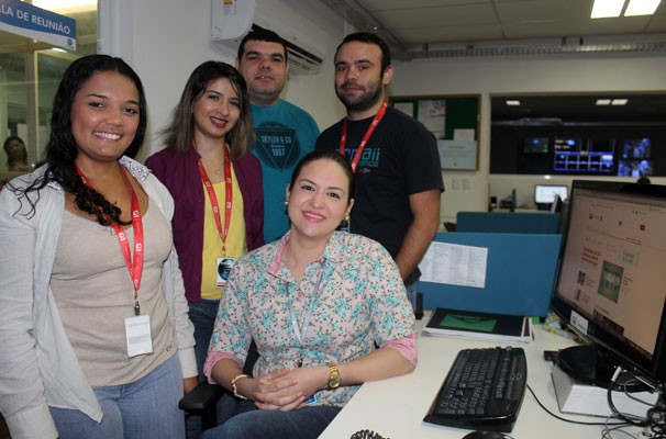 Equipe do G1 Piauí (Foto: Katylenin França)