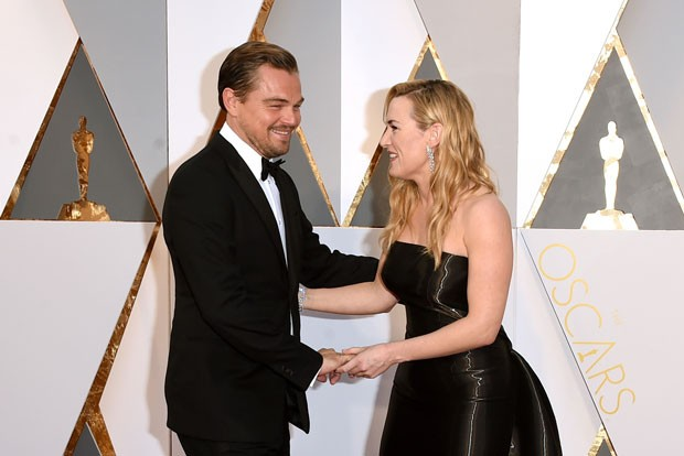 Oscar 2016 - Leonardo DiCaprio e Kate Winslet (Foto: Getty Images)