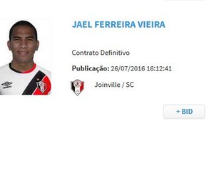 jael bid joinville regularizado  (Foto: Reprodução)