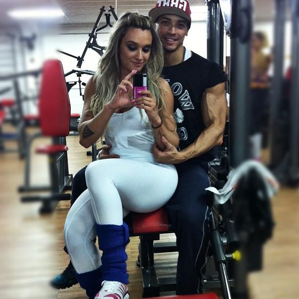 Juju Salimeni com o namorado, Felipe Franco (Foto: Instagram/ Reprodução)