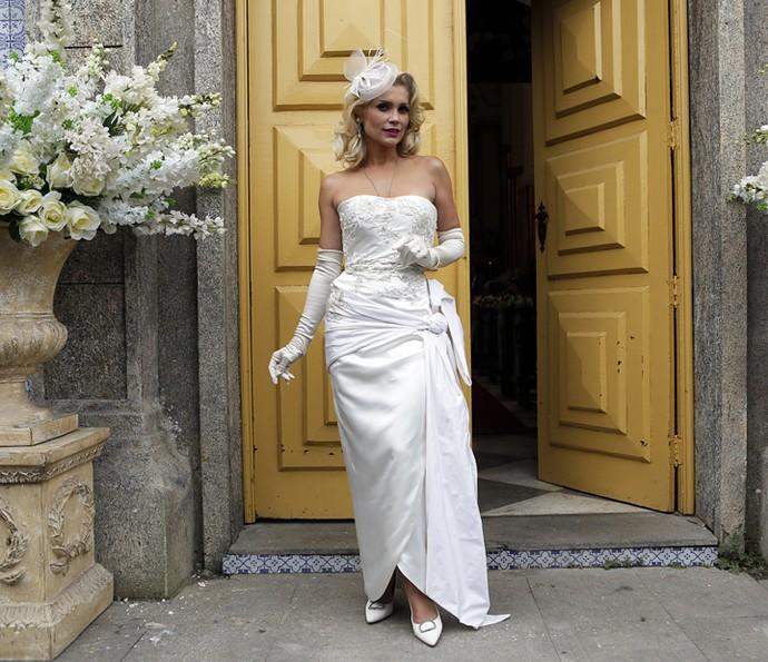 Look de Sandra promete chamar atenção (Foto: Pedro Carrilho/Gshow)