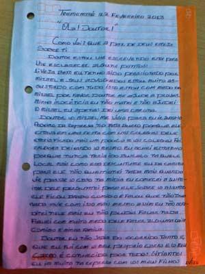 Em carta, Evandro Bezerra Silva escreve ter sido pressionado por Mizael e defensores dele  (Foto: Reprodução)