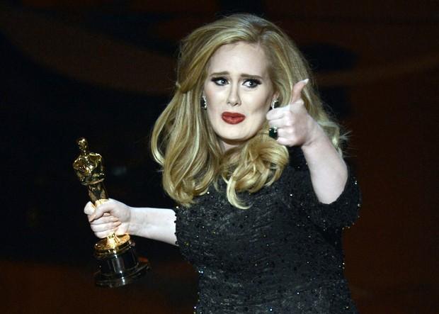 Adele no Oscar (Foto: AFP/Agência)