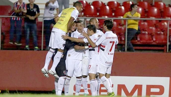 comemoração São Paulo contra Audax Osasco (Foto: Rubens Chiri / saopaulofc.net)