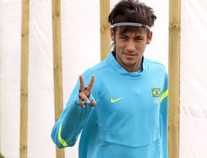 Neymar no treino da seleção brasileira (Foto: EFE)