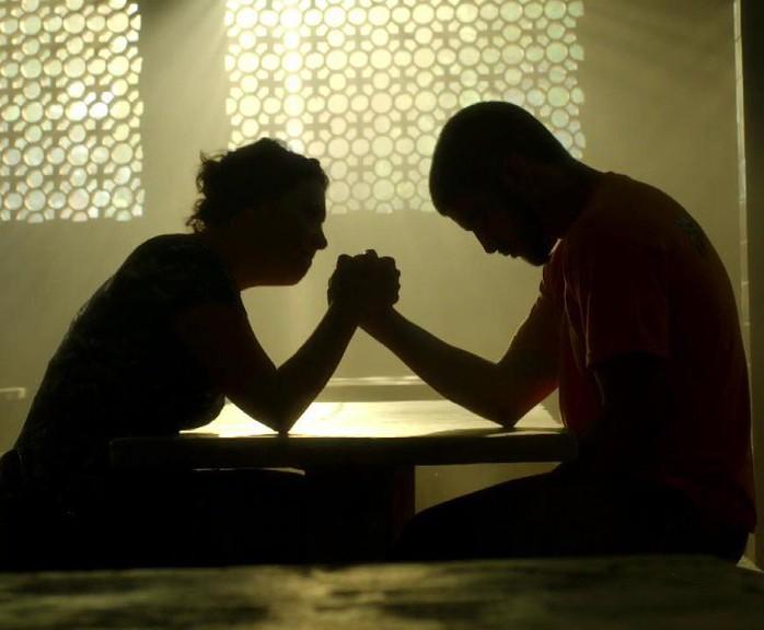 Conversa de Grego e Paulucha foi pura emoção (Foto: TV Globo)