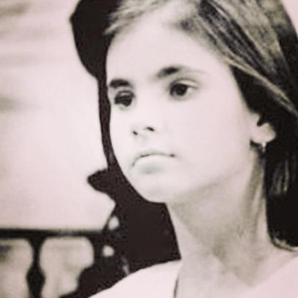 Lizandra Souto na infância (Foto: Reprodução/Instagram)
