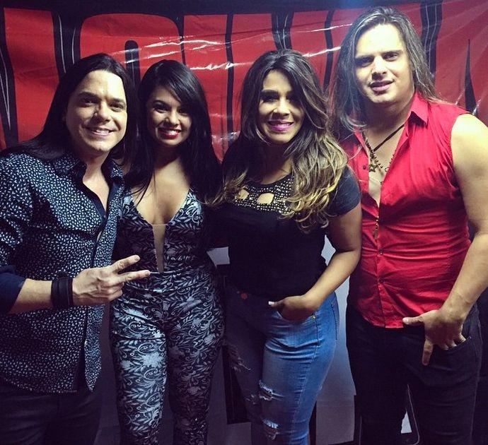 Calcinha Preta interpreta o tema de Adisabeba em A Regra do Jogo (Foto: Divulgação / TV Sergipe)