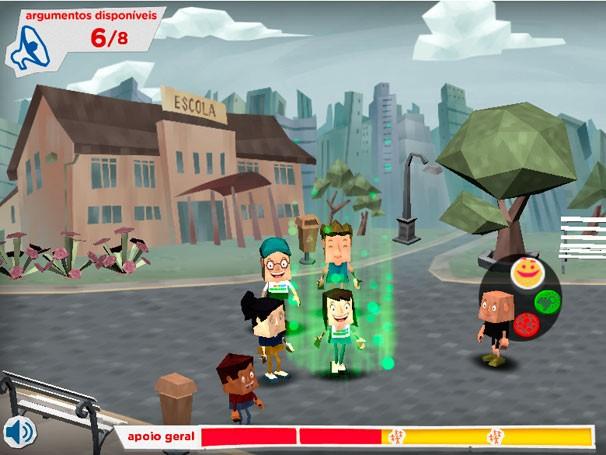 No game Mundo Esperança, você combina argumentos e gera esperanças (Foto: Reprodução)
