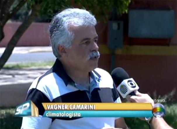 O climatologista Vagner Camarini foi entrevistado no SPTV 1ª Edição (Foto: Reprodução/TV Fronteira)