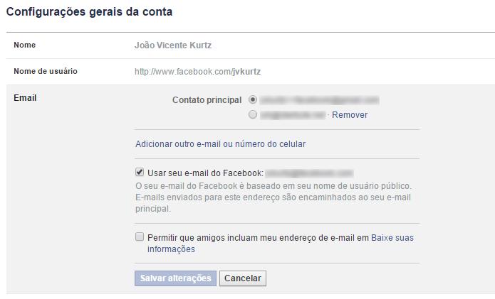 E-mail pode ser usado para descobrir credenciais de usuários (Foto: Reprodução/Facebook)