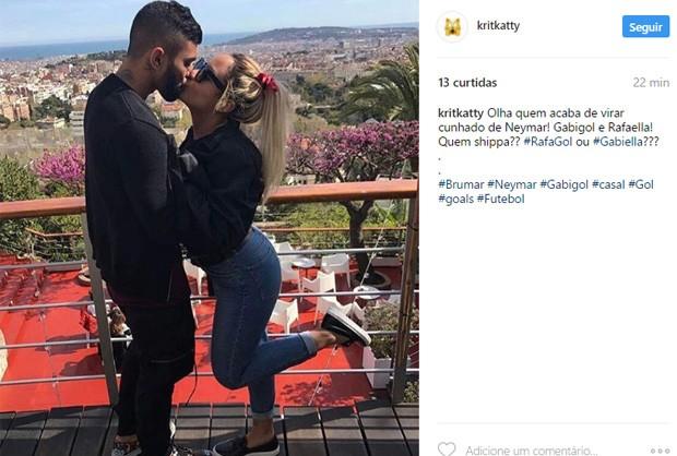 Fãs 'shippam' romance de Rafaella Santos e Gabigol (Foto: Reprodução/Instagram)