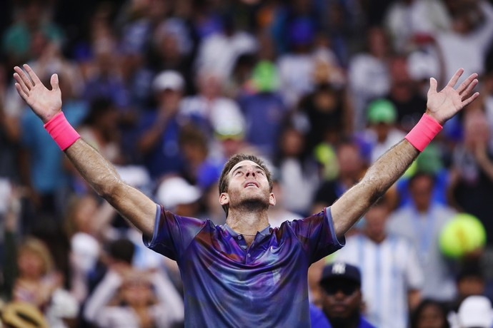 Juan Martin del Potro vence Dominic Thiem no US Open (Foto: CLIVE BRUNSKILL / GETTY IMAGES NORTH AMERICA / AFP)
