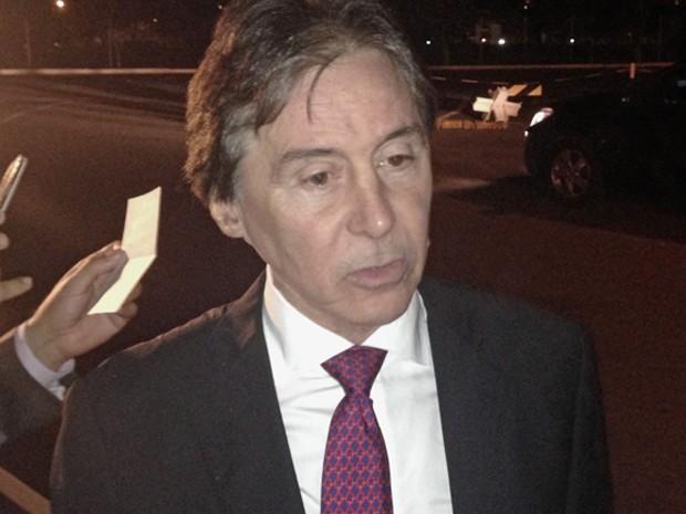 Senado Eunício Oliveira concede entrevista após reunião com Michel Temer (Foto: Gustavo Garcia/G1)