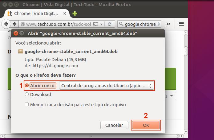Iniciando o download do Google Chrome (Foto: Reprodução/Edivaldo Brito) (Foto: Iniciando o download do Google Chrome (Foto: Reprodução/Edivaldo Brito))