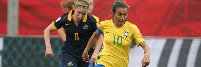 Marta Brasil x Austrália - Mundial Feminino (Foto: Reuters)