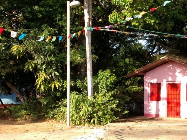 Terreiro do Bate Folha fica no bairro da Mata Escura, em Salvador (Foto: Vanessa Avelar/AECC UFBA)