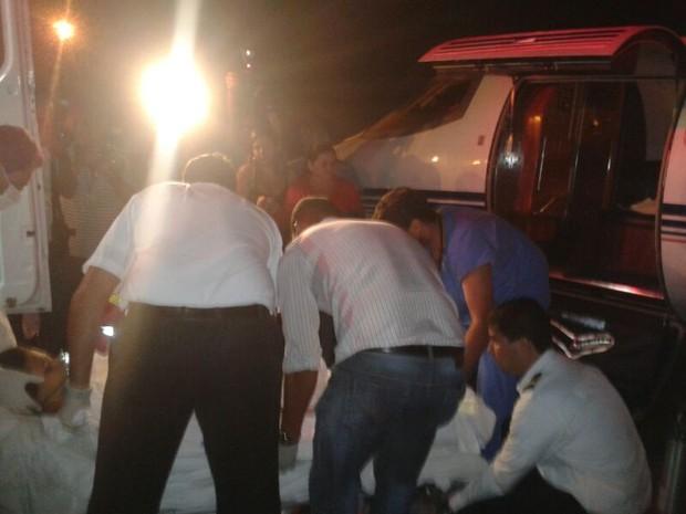 Ela será transferida para Hospital Regional da Asa Norte, em Brasília (Foto: Jéssica Melo/TV Mirante)