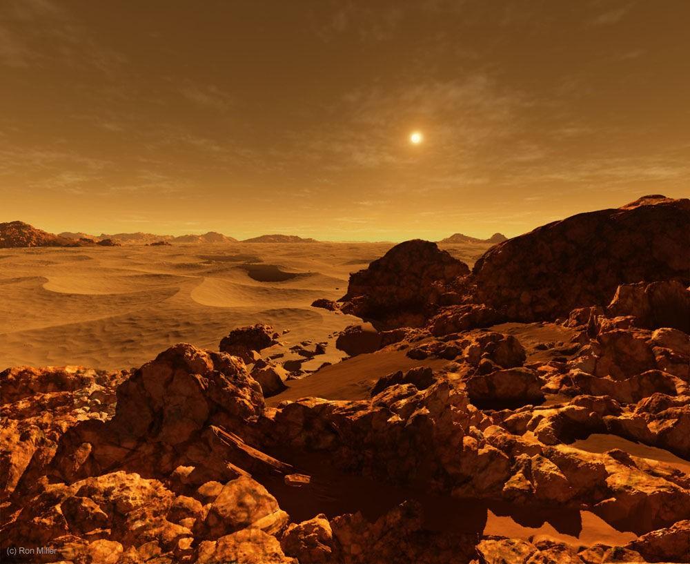 Marte, a 228 milhões de quilômetros do Sol (Foto: Ron Miller | Divulgação)