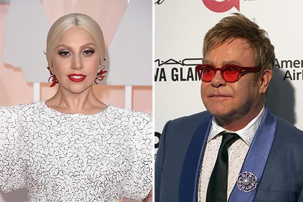Lady Gaga foi a madrinha escolhida para Zachary e Elijah, filhos do casal David Furnish e Elton John (Foto: Getty Images)