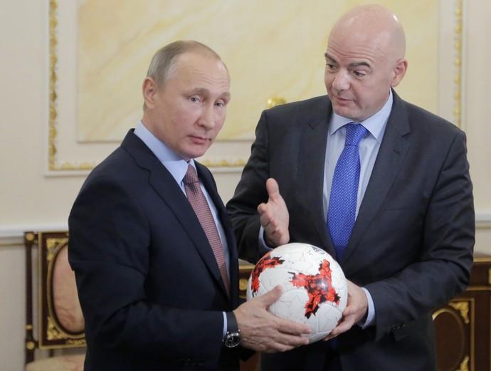 Putin Infantino Fifa Rússia (Foto: AFP)