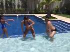 Vídeo: Anitta dança enquanto curte piscina com a mãe e amigos