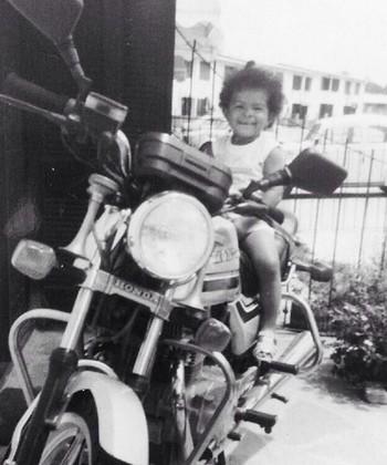Fernanda Garay criança vôlei (Foto: Arquivo pessoal)