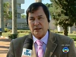Prefeito Luis Di Fiori fala sobre a crise no Hospital Regional de Itapetininga (SP). (Foto: Reprodução TV TEM)