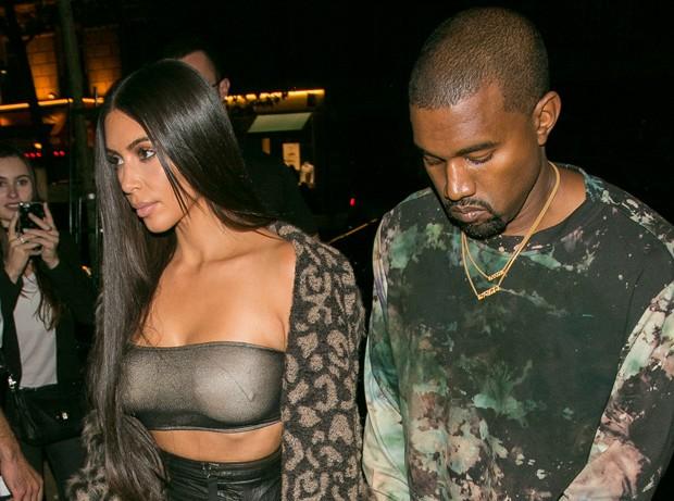 Kim Kardashian e Kanye West (Foto: Marc Piasecki/GC Images)