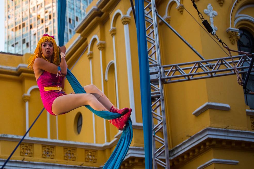 Circo na Virada Cultural (Foto: Victor Moriyama/G1)