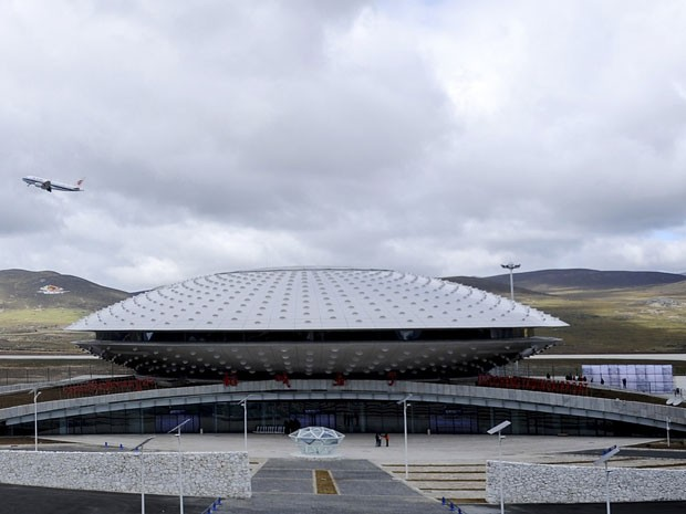 O Aeroporto de Daocheng, considerado o mais alto do mundo (Foto: Reuters/China Daily)