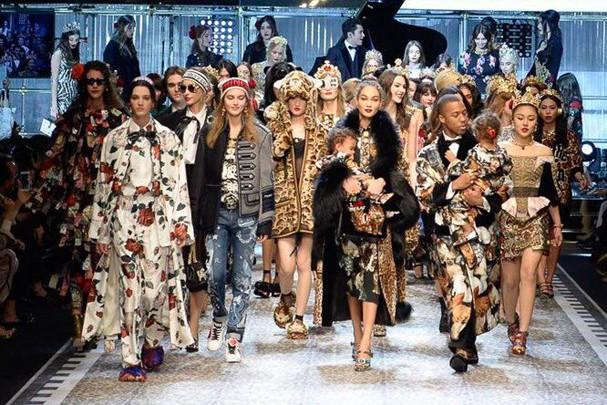 Fila final da Dolce & Gabbana (Foto: Reprodução)