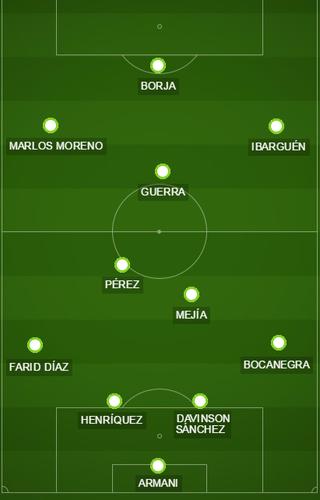 Campinho possível Atlético Nacional X São Paulo (Foto: GloboEsporte.com)