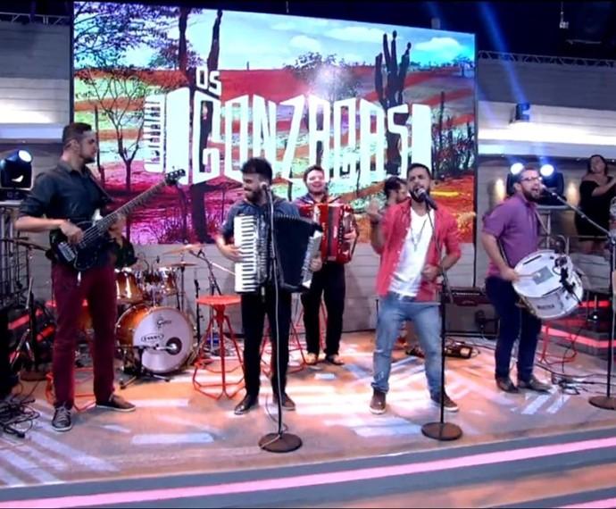 Os Gonzagas no encontro com fátima bernardes (Foto: Reprodução/TV Globo)