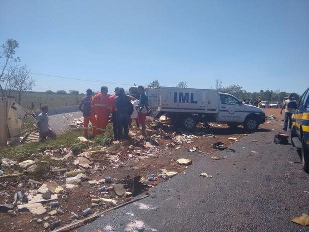 acidente Araguaína (Foto: Fabíola Sélis/TV Anhanguera)