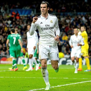 Bale comemora gol do Real Madrid contra o Ludogorets (Foto: Getty Images)