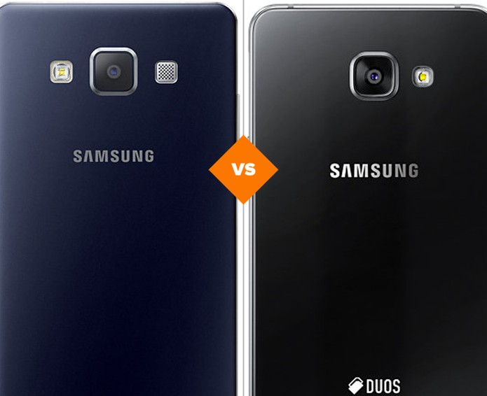 Confira o comparativo entre as versões de 2015 e 2016 do Galaxy A5 (Foto: Arte/TechTudo)