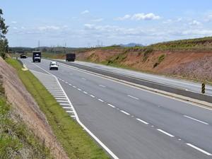 Novo trecho de duplicação da BR-101 em Casimiro de Abreu (Foto: Divulgação/Autopista Fluminense)