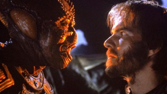 Dennis Quaid e o alienígena Jeriba em Inimigo Meu (Foto: Divulgação)