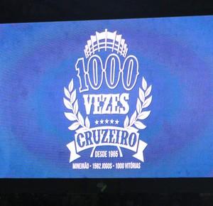 Cruzeiro Mil vitórias  (Foto: Tarcísio Badaró )