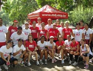 Assessoria de corrida MD Runners durante treino técnico (Foto: Arquivo Pessoal)