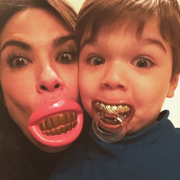 Luciana Gimenez se diverte com o filho caçula, Lorenzo Gabriel (Foto: Instagram/ Reprodução)